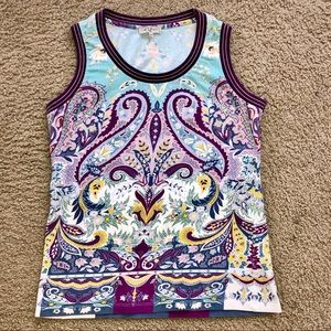 Etro paisley print sleeveless top